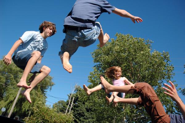 Kids on Trampoline