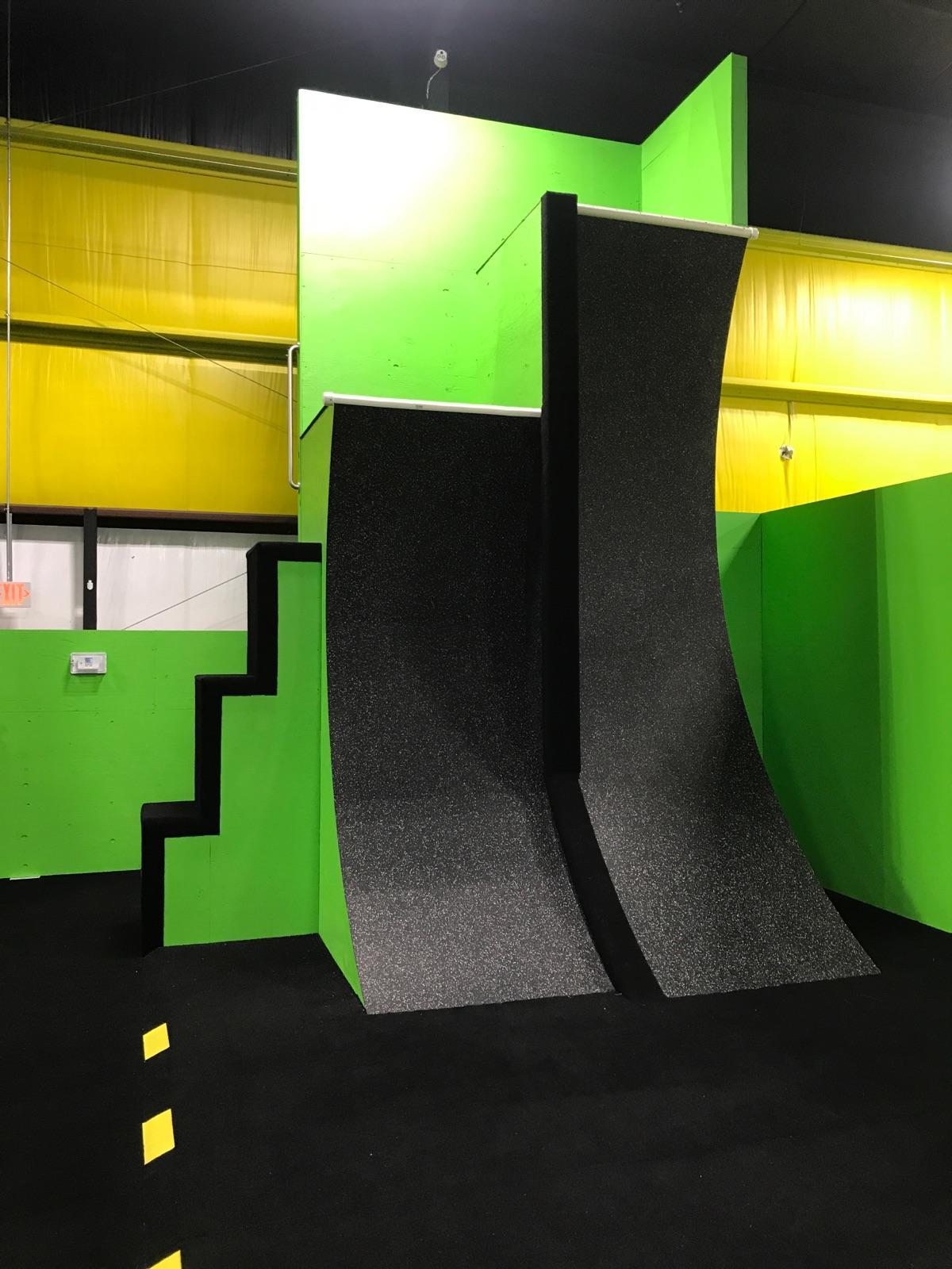 warped wall black and green